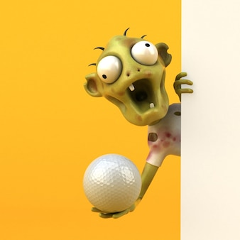 Lustige zombie-3d-illustration