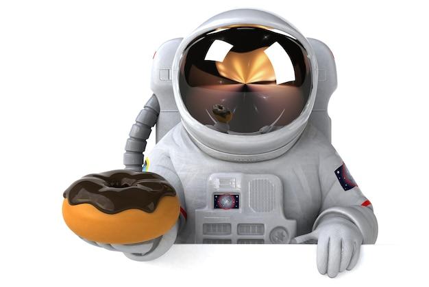 Lustiger astronaut - 3d-charakter