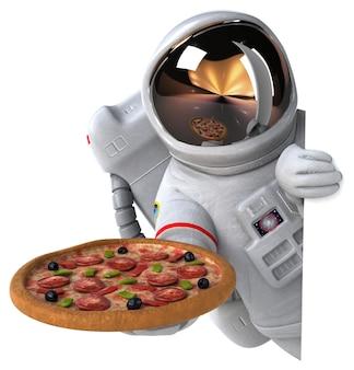 Lustiger astronaut - 3d-illustration