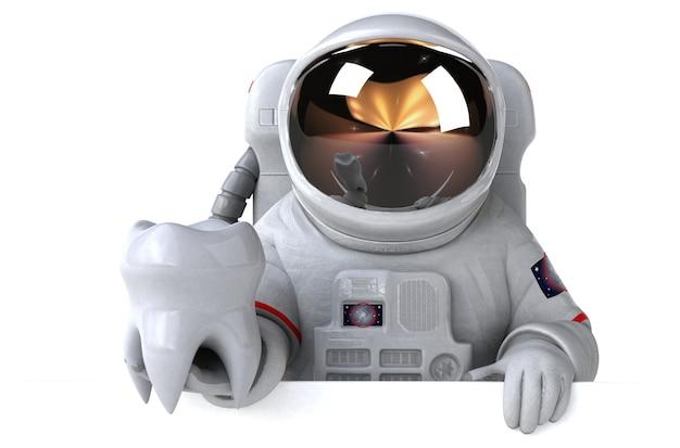 Lustiger astronaut - 3d-rendering