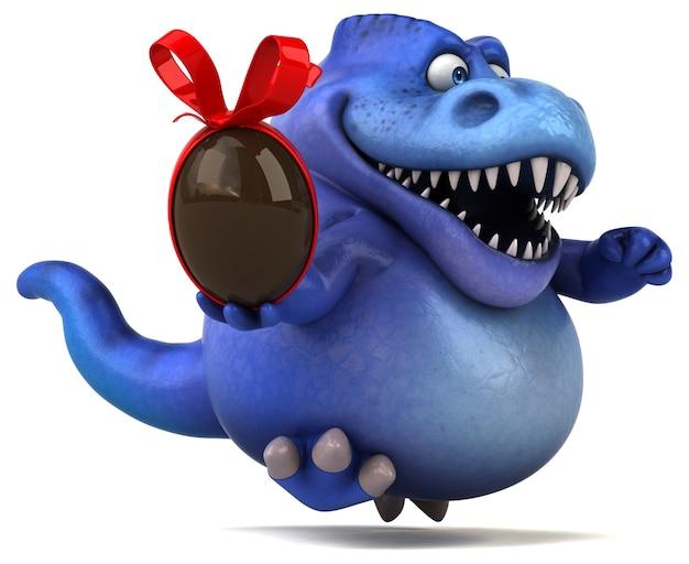 Lustiger dinosaurier - 3d-illustration