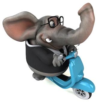 Lustiger elefant - 3d-charakter