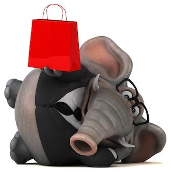 Lustiger elefant - 3d-illustration