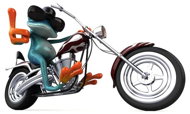 Lustiger frosch - 3d-illustration