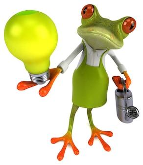 Lustiger froschgärtner - 3d-illustration