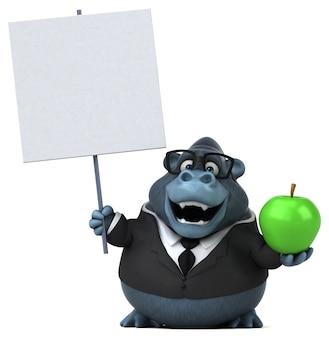 Lustiger gorilla - 3d-charakter
