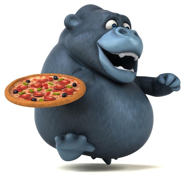 Lustiger gorilla - 3d-illustration