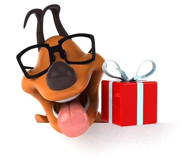 Lustiger hund - 3d-illustration