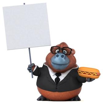 Lustiger orang-outan - 3d-illustration