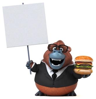 Lustiger orang outan - 3d-illustration