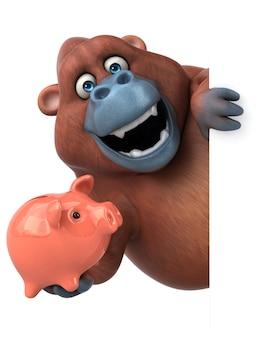 Lustiger orang-utan - 3d-illustration