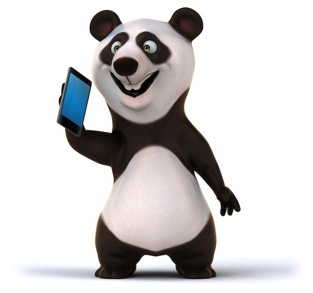 Lustiger panda - 3d-illustration