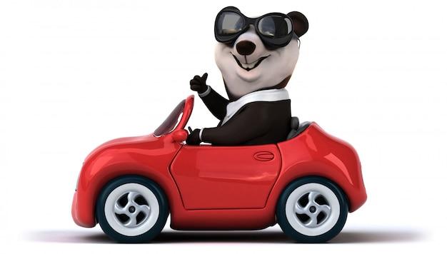 Lustiger panda