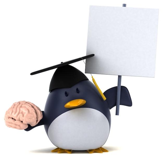 Lustiger pinguin - 3d-illustration