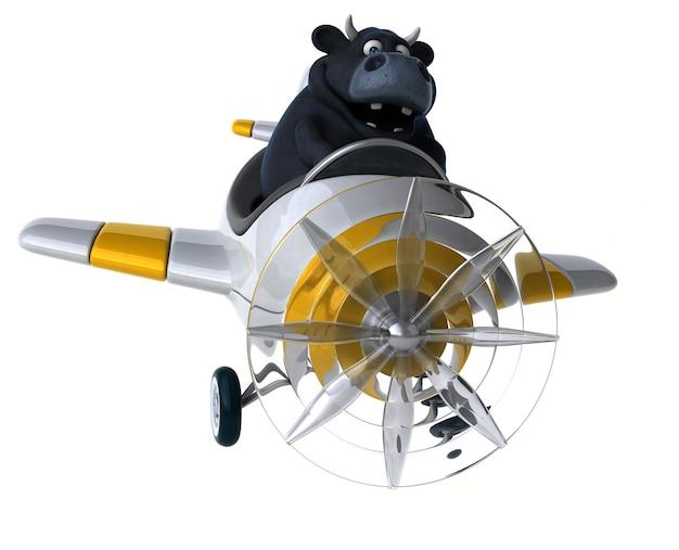 Lustiger stier - 3d-illustration