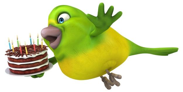 Lustiger vogel - 3d-charakter