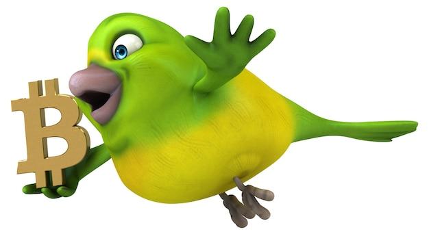 Lustiger vogel - 3d-illustration