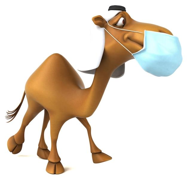 Lustiges 3d-kamel mit maske