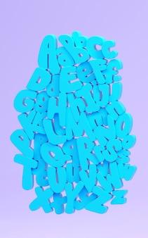 Lustiges alphabet 3d