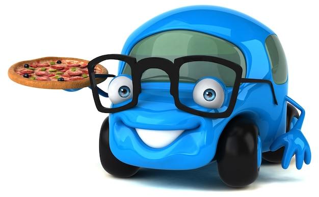Lustiges auto - 3d-charakter