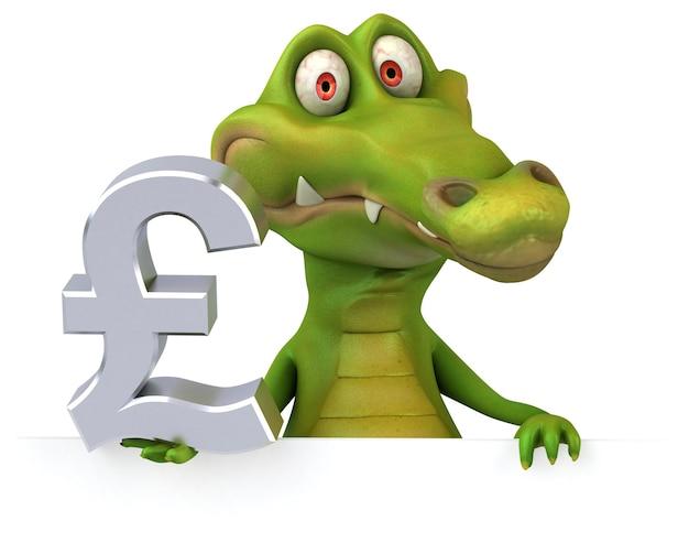 Lustiges krokodil - 3d-illustration