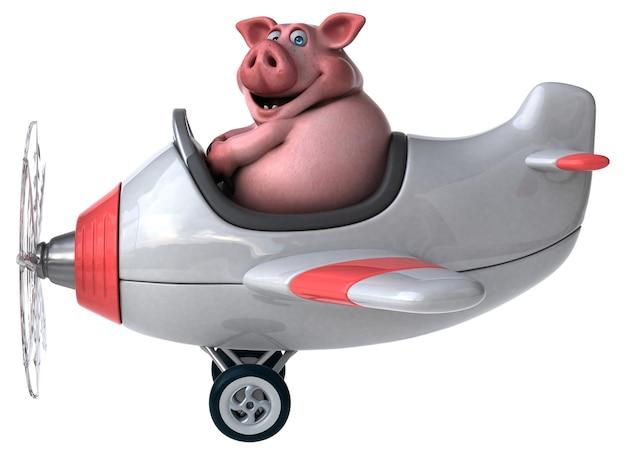 Lustiges schwein - 3d-charakter