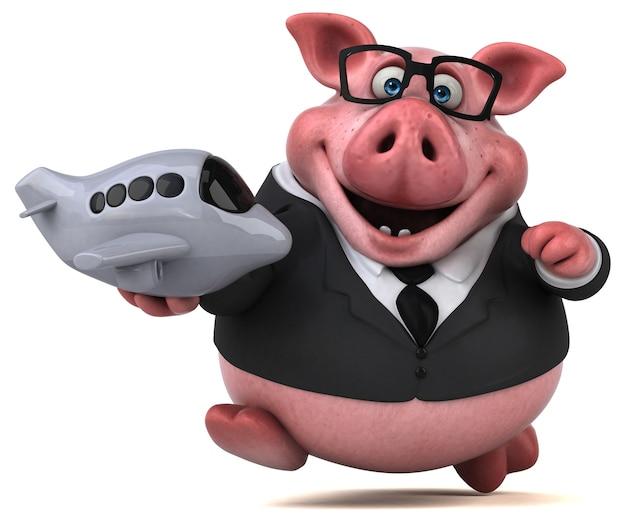 Lustiges schwein - 3d-illustration