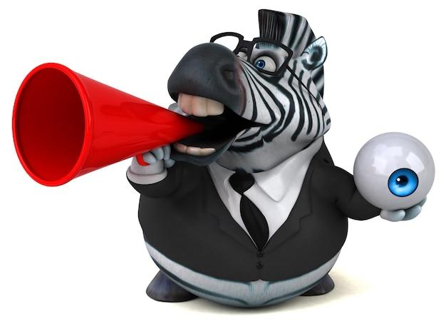 Lustiges zebra - 3d-illustration
