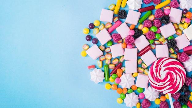 Lutscher auf süßigkeiten