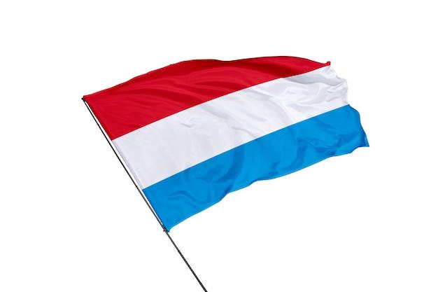 Luxemburg-flagge auf weißem hintergrund