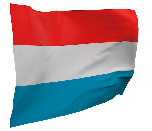 Luxemburg flagge isoliert. winkendes banner. nationalflagge von luxemburg