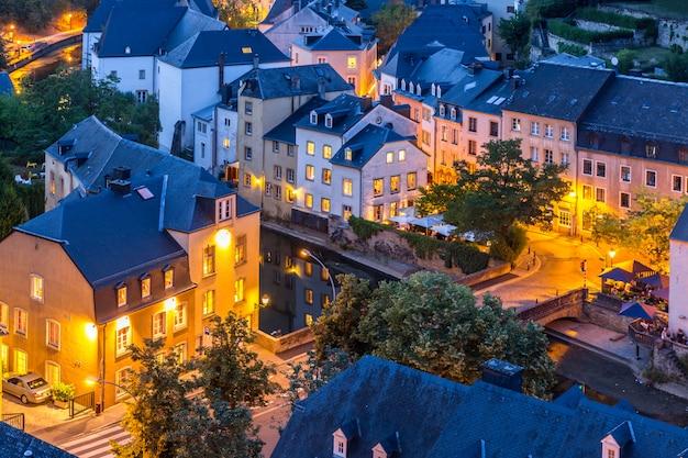 Luxemburg-stadt nacht