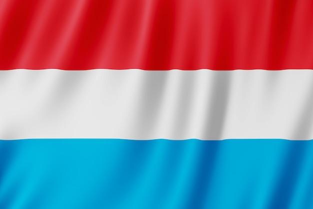 Luxemburger flagge weht im wind.