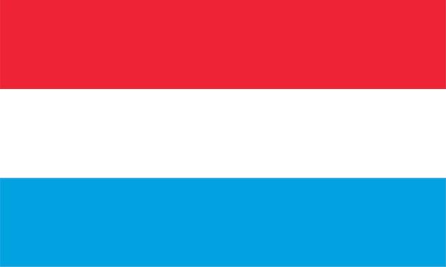 Luxemburgische flagge von luxemburg