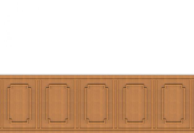 Luxuriöse braune hölzerne quadratische form