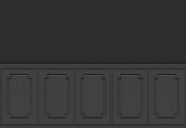 Luxuriöse dunkle hölzerne quadratische formmusterplattenweinlese