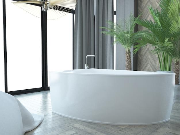 Luxuriöse hotelsuite mit bad