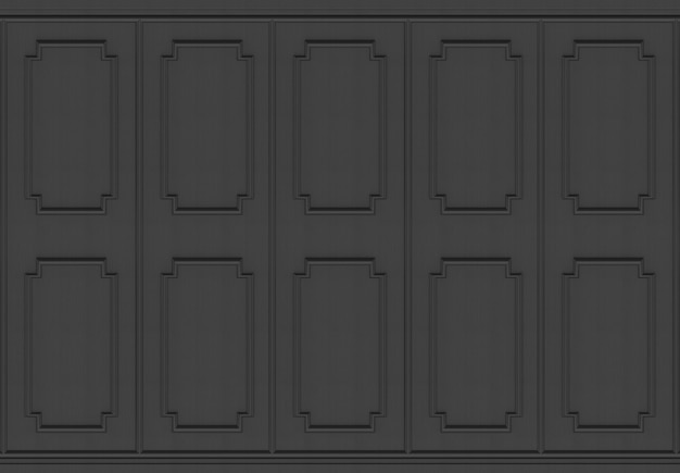 Luxuriöser dunkler hölzerner quadratischer formmusterplatten-design-wandhintergrund.