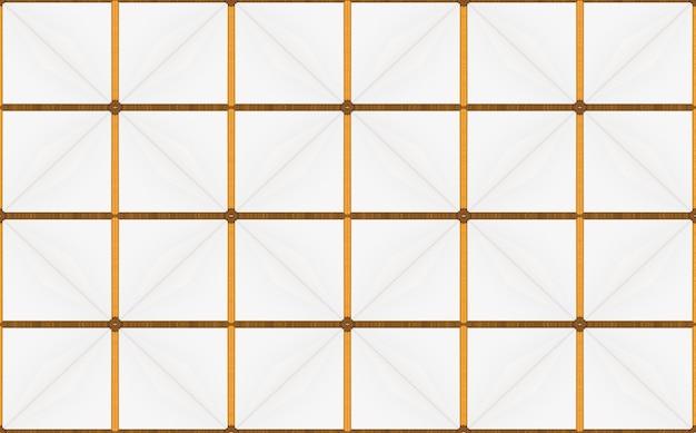 Luxuriöser nahtloser goldener quadratischer gitterhintergrund.
