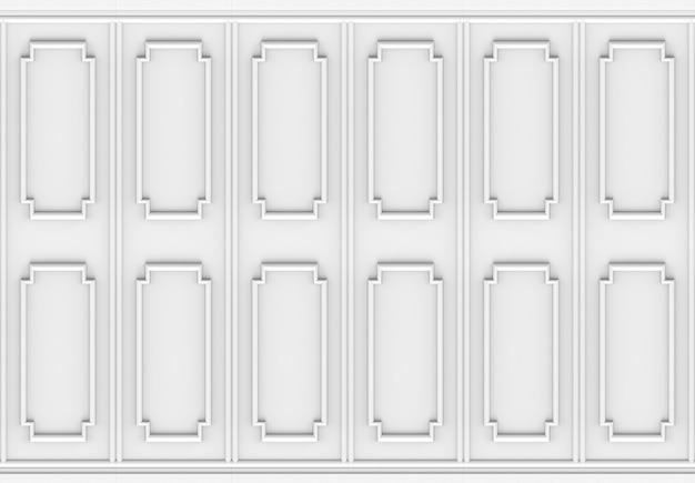 Luxuriöser weißer formmusterplatten-designwandhintergrund des hölzernen quadrats.