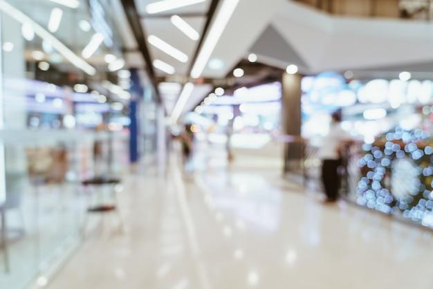 Luxuriöses einkaufszentrum und einzelhandelsgeschäfte verwischen
