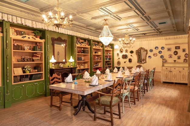 Luxuriöses restaurant bankettsaal veranstaltungsraum interieur