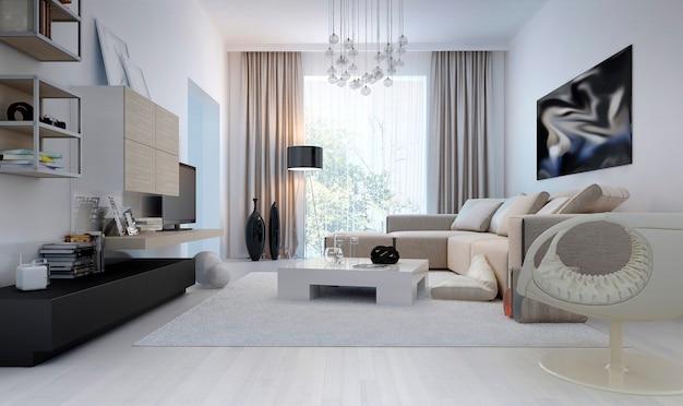 Luxuriöses und minimalistisches wohnzimmer