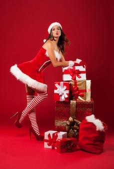 Luxuriöses weihnachten mit sexy frau