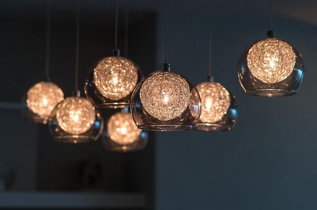Luxus-beleuchtung dekoration