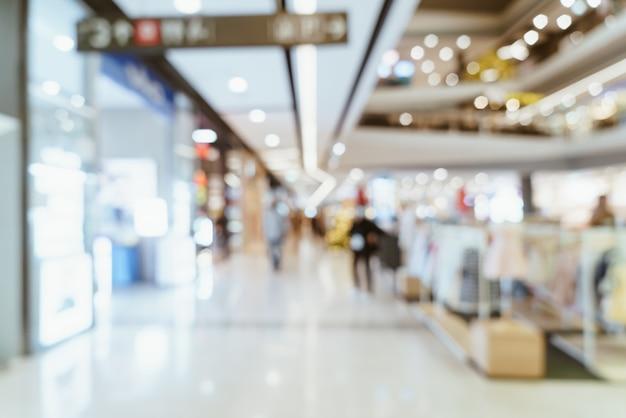 Luxus-einkaufszentrum und einzelhandelsgeschäft der abstrakten unschärfe für hintergrund
