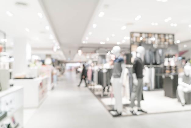 Luxus-einzelhandelsgeschäft der abstrakten unschärfe im einkaufszentrum