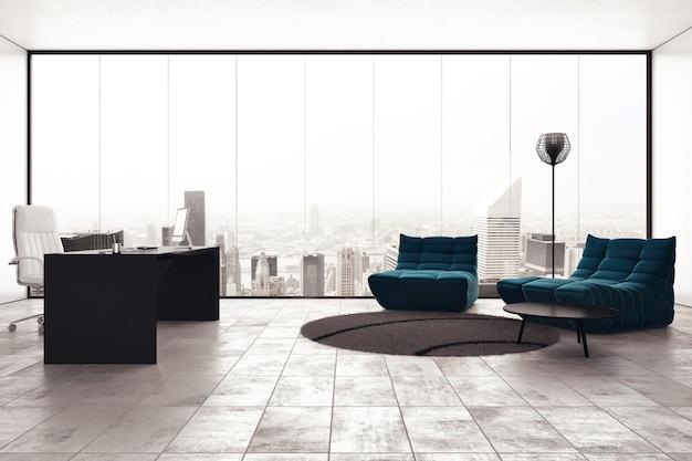 Luxus-exekutivbüro mit stadtblickfenster