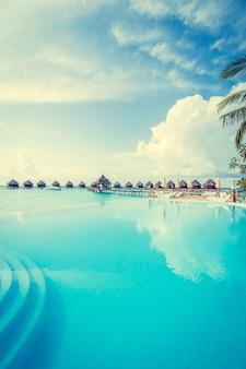 Luxus-insel karibischen strand wasser
