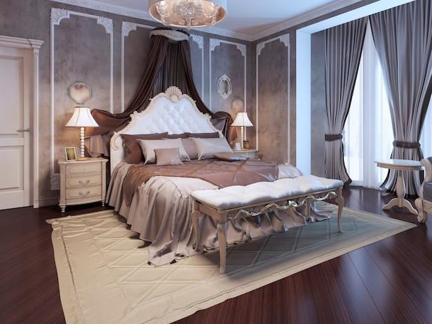 Luxus-interieur des art-deco-schlafzimmers